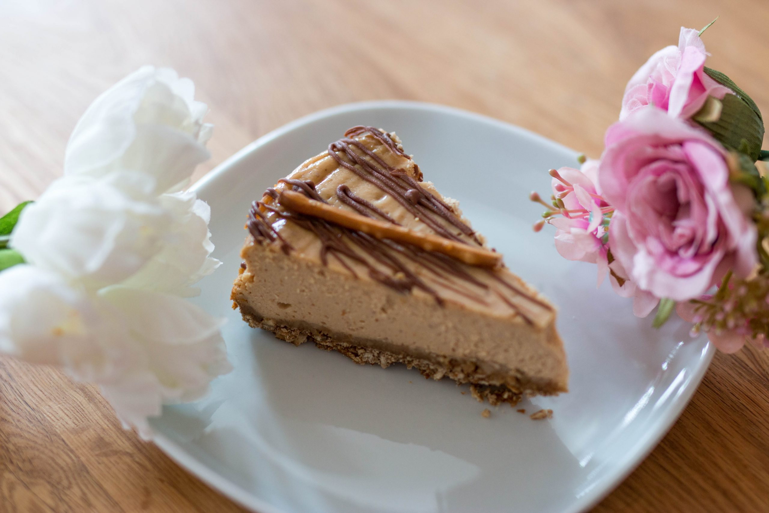 Salty peanut butter cheesecake
